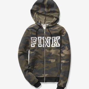 Brand New Victoria Secret Pink Camo Sweatshirt S